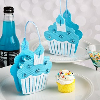 Blue Cupcake Design Favour Bags